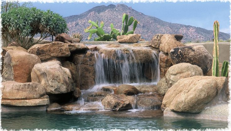 Fake Rock Waterfalls Custom Rock Water Features By