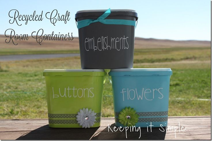 Keeping it Simple: Recycled craft room containers