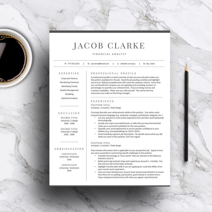 139 best Professional Resume Templates images on Pinterest Cv - reference page template resume