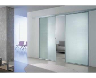 Porta scorrevole astor porte modello atlantic 2 ante in offerta trave a parete porte con - Porta scorrevole vetro offerta ...