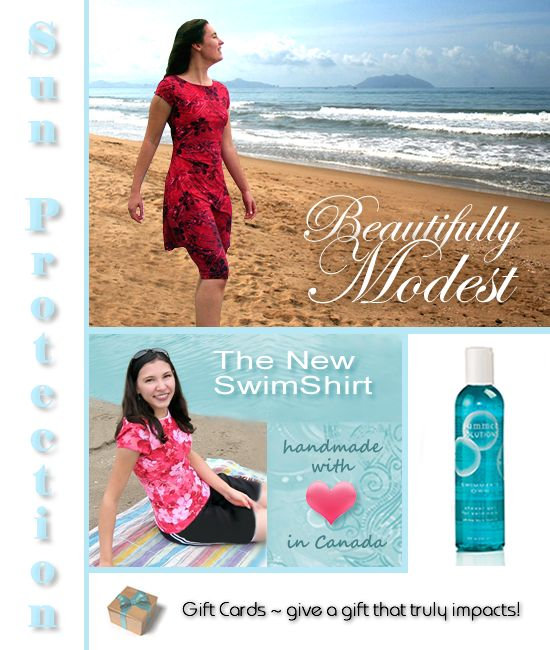 Modest swimsuit patternFinding Modest, Modest Swimming Shirts, Modest Swimwear, Boutiques Narel, Beautiful Modest, Swimming Suits, Simply Modest, Swimming Wear, Modest Swimsuits