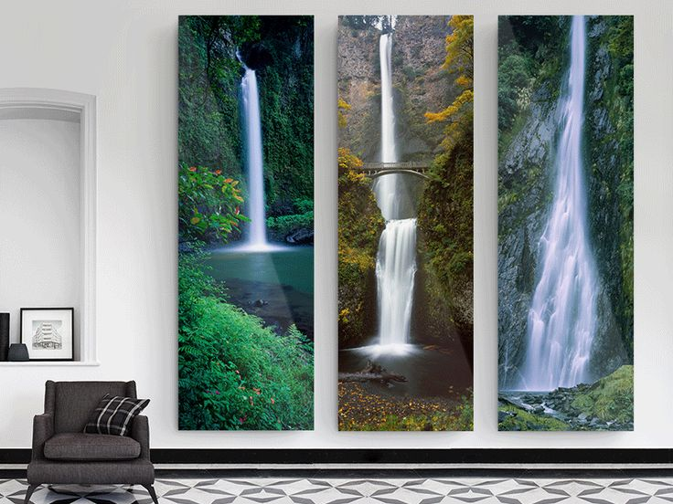Drei mal Echter Foto-Abzug hinter Acrylglas als Panorama in Maximalgröße. Acrylglas Foto Maximalgröße: 290x180 cm (Glasstärke 2 mm), 180x122 cm (Glasstärke 4 mm) 180x122 cm (Glasstärke 6 mm)
