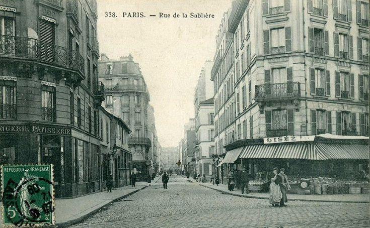 La rue de la Sablière vers 1905  (Paris 14e)