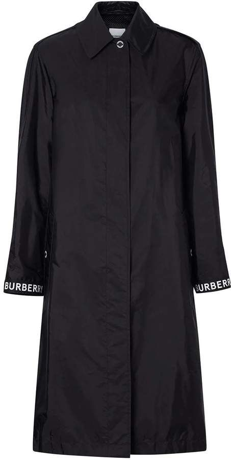 Burberry logo detail car coat