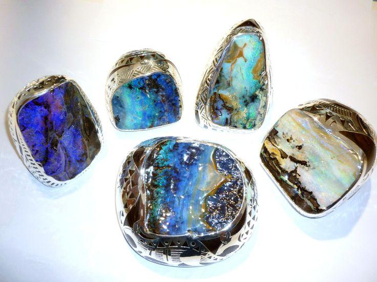 Stirling Silver Boulder Opal paper weights. #Boulder #silver #paper_weight