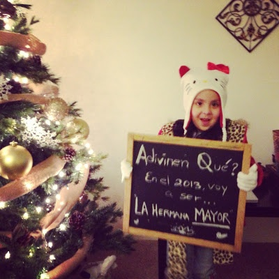Pregnancy announcement by the big sister/ brother Anuncio de embarazo por la hermana/hermano mayor!
