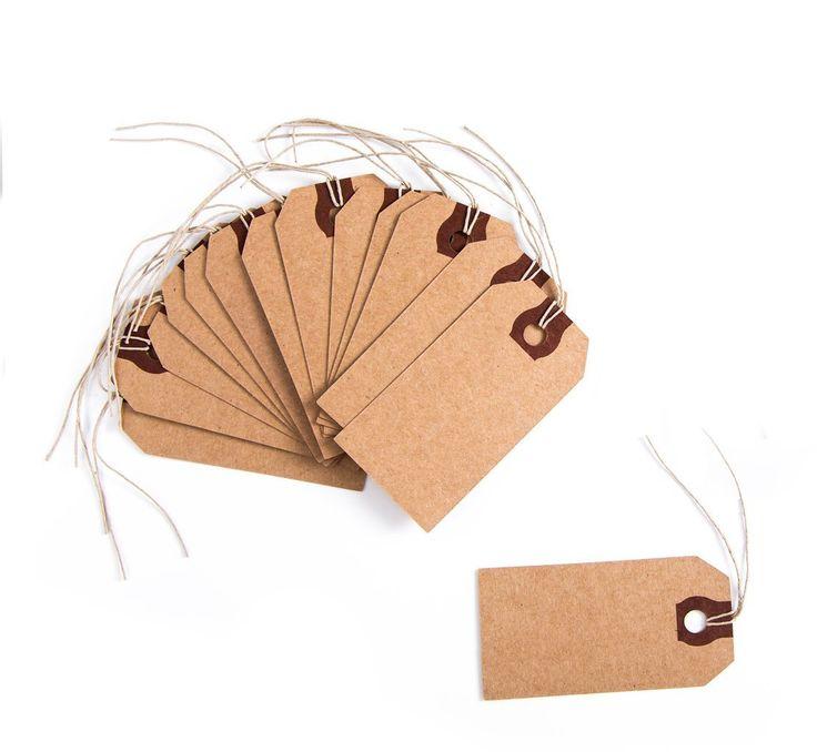 10 Geschenkanhänger mit Schnur; 9 x 4,6 cm; Preisetiketten, Namensschilder zur Geschenkverpackung und zum Verzieren von Geschenken: Amazon.de: Bürobedarf & Schreibwaren