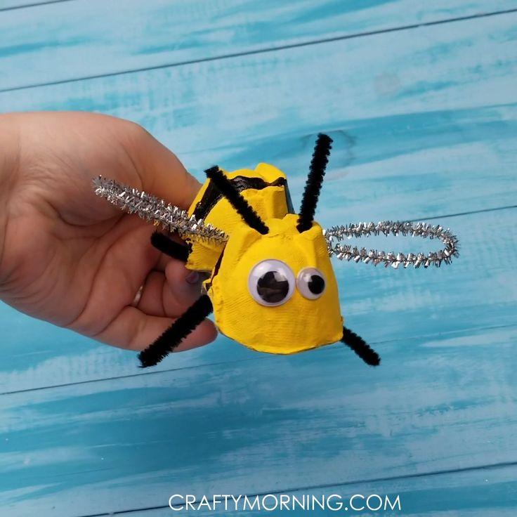 Egg Carton Bumble Bee Craft