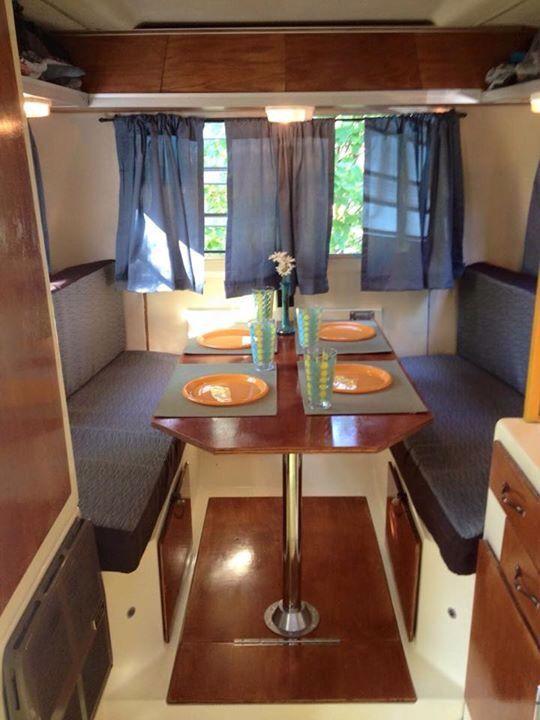 Trillium Trailer Interior Vintage Trailers Kitchen Decor Travel Trailer Remodel Rv Campers