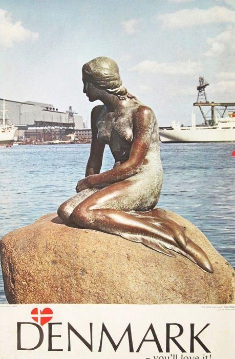Denmark - The Little Mermaid http://HotelTravelVacation.com