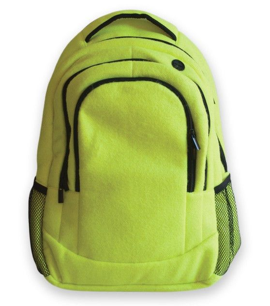 Sport Backpack Actual Tennis Leather fully padded back panel shoulder straps #Zumer #Backpack