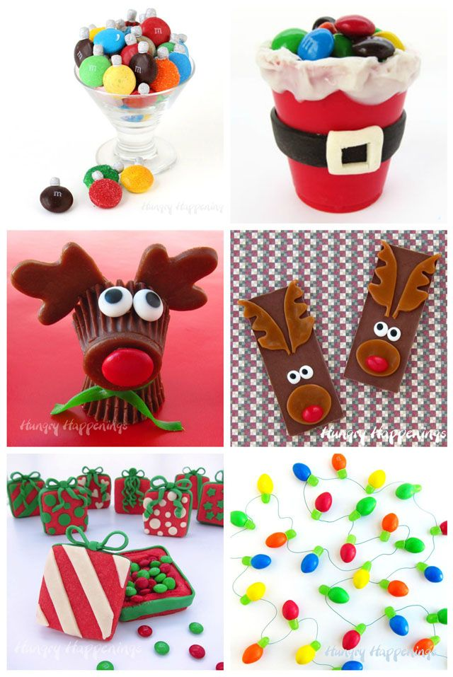 Create this cute and fun Christmas treats using M&M's candies. See all the tutorials on HungryHappenings.com.