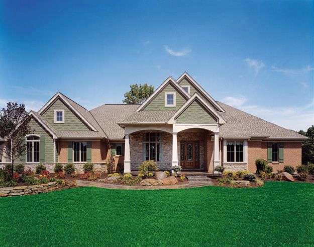 1000 images about craftsman home plans on pinterest for Craftsman style open floor plans