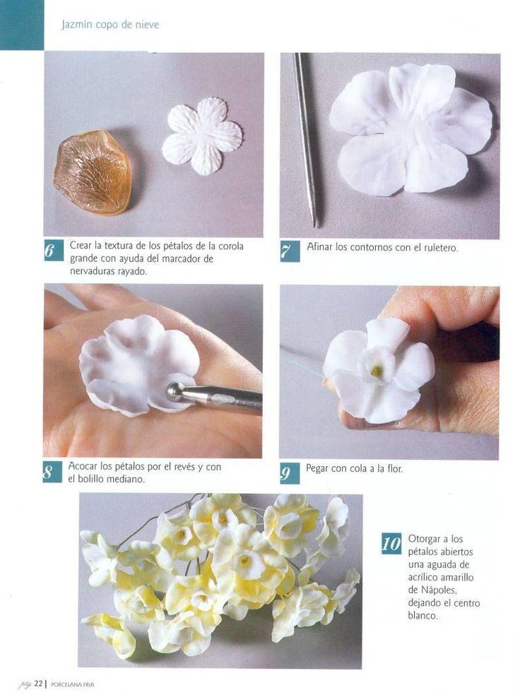 Todo Flores de Porcelana Fria: Jazmin Paso a Paso