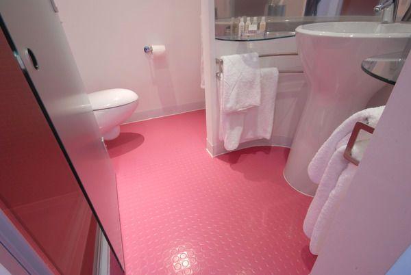 pink rubber floor