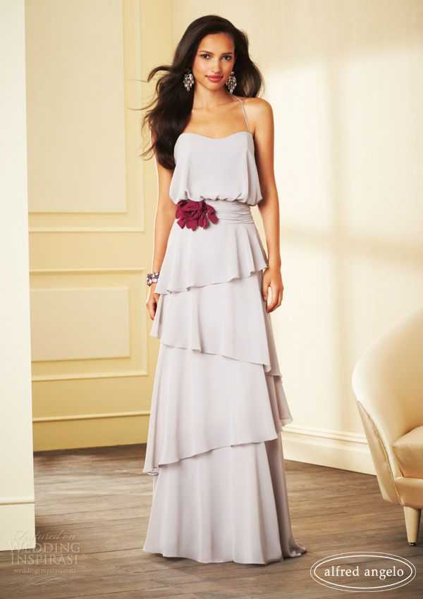 alfred angelo dresses 2014 grey bridesmaid gown style 7266