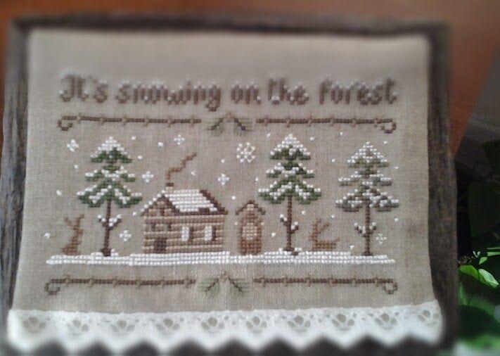 Crocette e Libri: 'The Snowy Forest' The Little Stitcher
