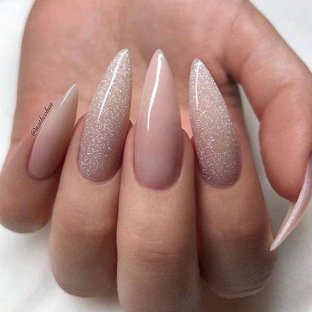 Nail Career Education Natural Nails Nail Care Forum Acrylic Nails Glitter Ombre Pointed Nails Glitter Nails Acrylic