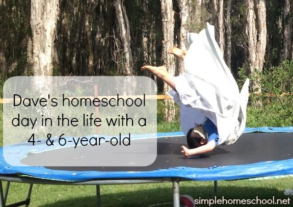 Dave's homeschool day in the life with a 4- & 6-year-old