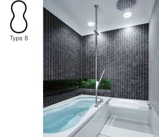 壁・天井を自由にコーディネートできるバスルーム。腰壁から下の防水工事が不要のため施工もラクです。
