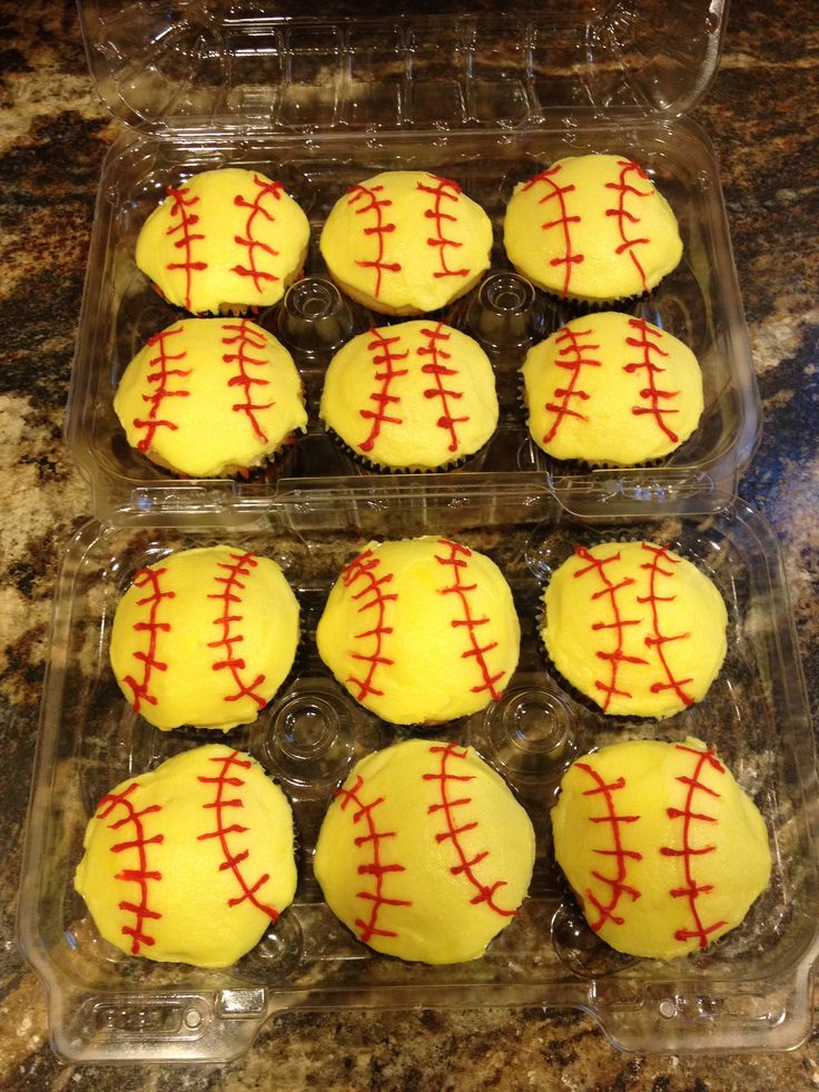 17 Best Images About Softball Cupcakes On Pinterest L