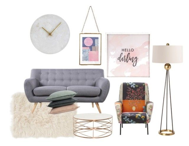 """""""scandinavian living room"""" by karimahabdul on Polyvore featuring interior, interiors, interior design, home, home decor, interior decorating, Nordstrom, Madison, Design Within Reach and Arteriors"""