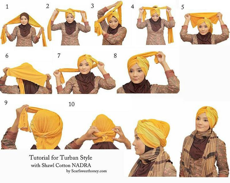 hijab / turban styles tutorials