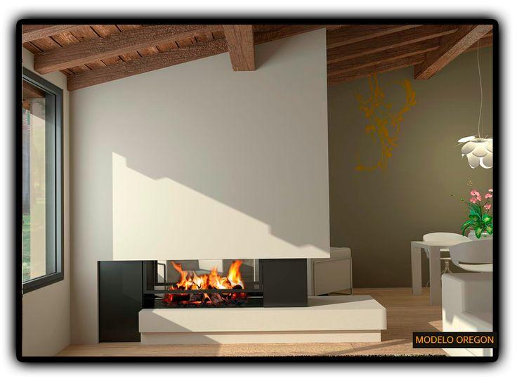 Chimenea moderna oregon dream home pinterest oregon - Fotos chimeneas modernas ...