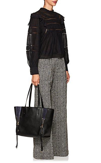 bf1b4aec3 Chloé Milo Medium Leather Tote Bag | Genius | Black leather tote bag ...