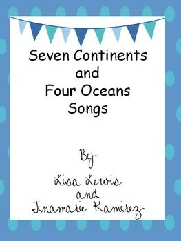 By using these 2  songs (tunes- Are You Sleeping and BINGO),  students will learn the 7 continents and 4 oceans with movements. We use these songs during our Social Studies unit on map skills and geography. Thank you for visiting our store!~ lisa and tina TGIF~ Third Grade is Fun