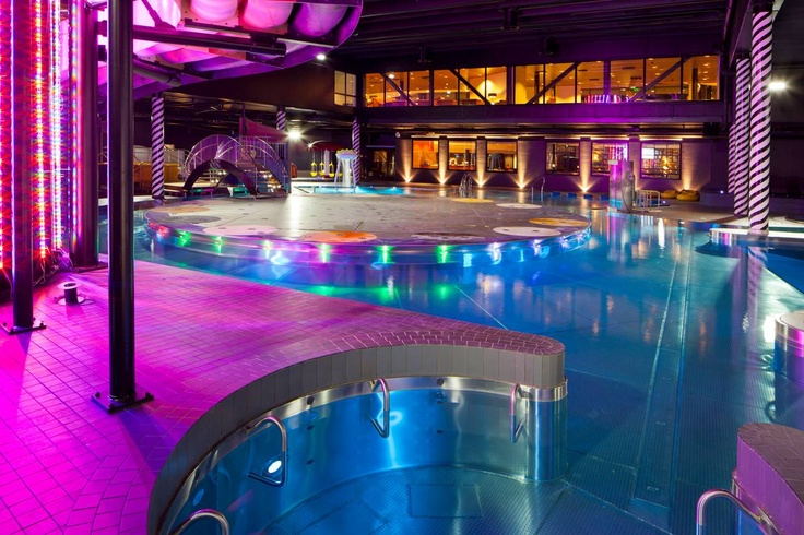 Come for a swim in colorful spa at Holiday Club Saimaa!