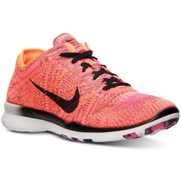 Nike Women\u0027s Free Tr Flyknit Training Sneakers from Finish Line ($130) ?  liked on