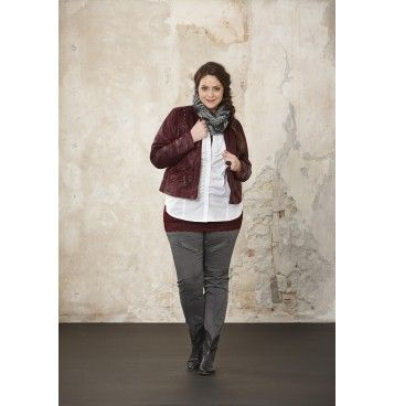 Jasje bordeaux KOPEK - Zhenzi Plus size fashion Grote maten mode winter 2013/2014