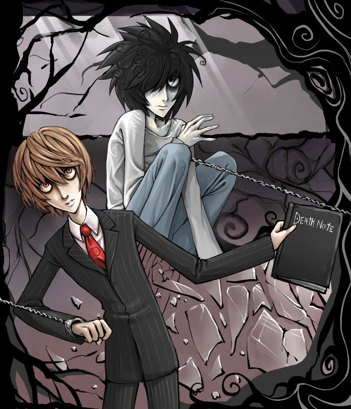 Tim Burton Style Death Note By MaGLIL. OH MY GOD I LOVE THIS SO MUCH, I CAN'T MAKE THIS A MOVIE