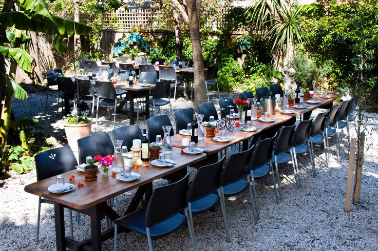 We can cater for large groups in our garden setting. — at Stefanos Italian Pizza And Pasta