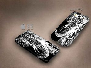 Elephant Negatif Art 3D case, full image, for iphone 4/5/5c & Galaxy S3/S4