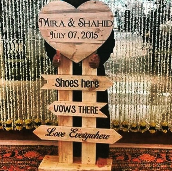 Direct people to your wedding, but with added cheese. | 20 Easy Ways To Make Your Indian Wedding Goddamn Adorable
