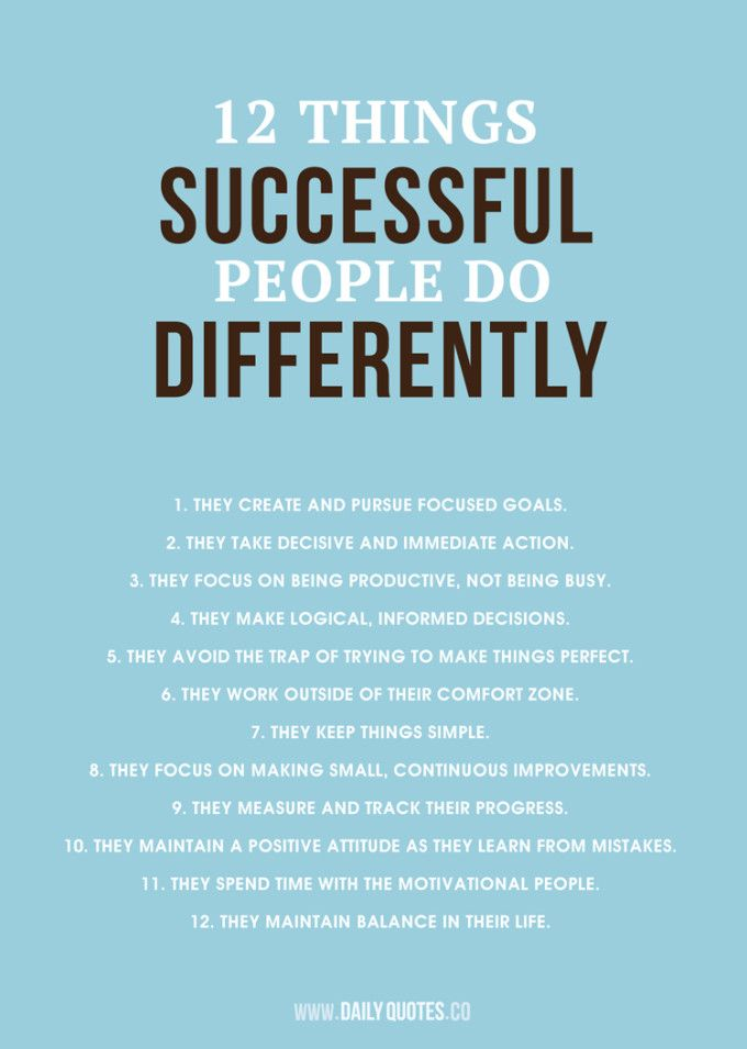 12 Things Successful People Do Differently - Buy Prints at http://www.zazzle.com/dailyquotes* #quotes #inspiration #success