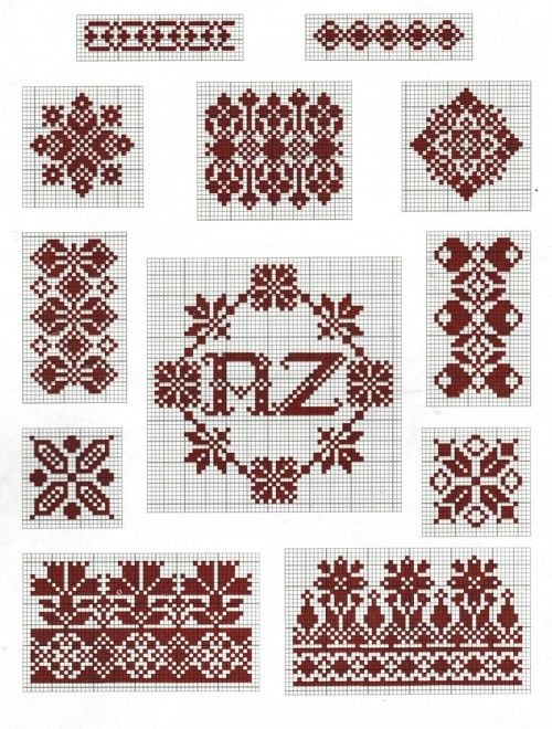 Borders and motifs cross-stitch