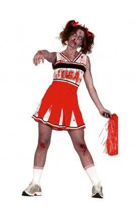 Disfraz de animadora zombie para mujer … Más