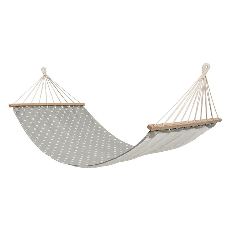 Bloomingville Grey Spot Hammock: This beautiful hammock with grey spot design is by Bloomingville in Denmark. A super comfy and roomy hammock which can be used indoors or out.