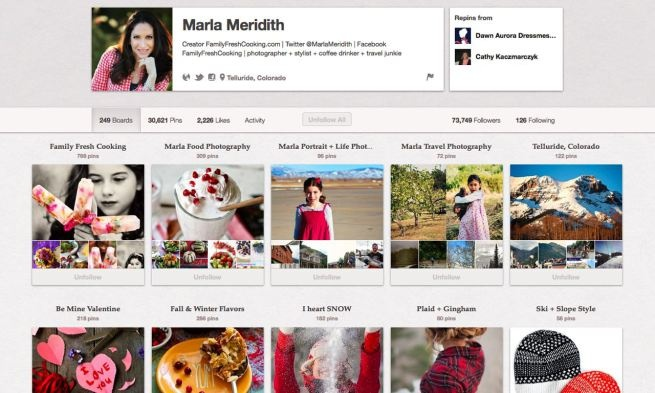 It's clear @Marla Meridith, a blogger at Family Fresh Cooking, photographer and proud resident of Telliride Colorado, draws inspiration chiefly from her mountainous surroundings and love of good (and beautiful) food. You will want to cocoon yourself in her Fall & Winter Flavors board and use it as a visual recipe book from September until March.