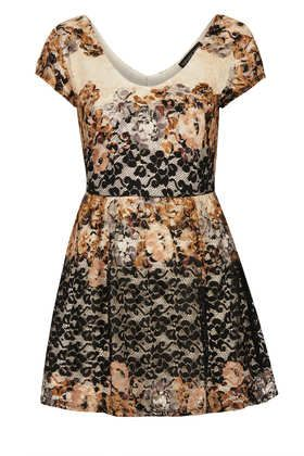 Petite Floral Tunic Dress - Petite  - Clothing
