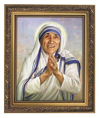 Moeder Teresa Print In Overladen Gouden Frame