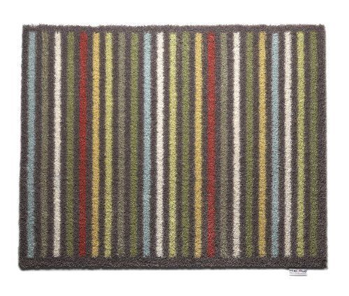 """Dirt Trapper Washable Door Mat approx 25"""" x 33"""" - Parallel Stripe 30 by Cotswold Mat Co Ltd. $54.95. Also available as a 25"""" x 59"""" runner. 5 year guarantee. Made in the UK. Waffle backing created from recycled car tyres to give excellent grip on hard floors.. Machine washable at only 30°C. Approximate thickness 8mm. Highly absorbent cotton rich pile soaks up 95% of all dirt and moisture from feet as well as paws!. Made in the UK using a cotton rich pile which absorbs 95% of ..."""