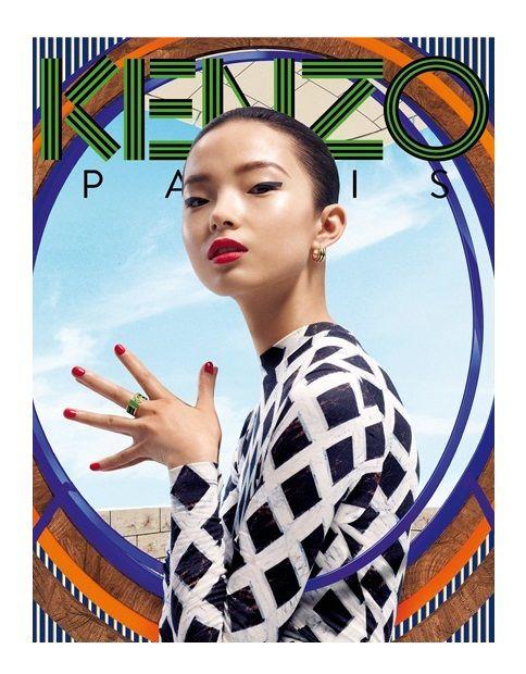 KENZO ACESSORIES F/W 12.13 AD CAMPAIGN    Models:Xiao Wen Ju & Simon Sabbah   Photographer: Frederik Heyman