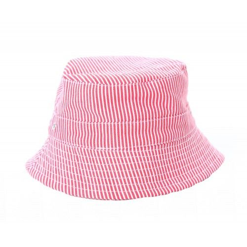 this max bucket hat will match and add a touch of style toa variety of boys' summer outfitsred and whites stripes lined in whitewith a toggle cord it won't blow awayand side air holes for comfort100% cotton, from acornxs fits 3-6 monthss fits 6 months to 2 yearsm fits 2-4 yearsl fits 4-8 years $0.00