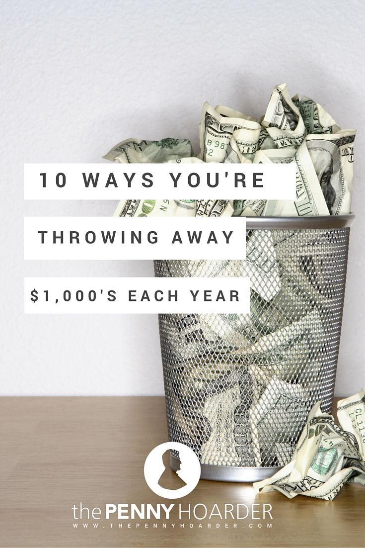 To help you identify potential problem areas (and therefore ways to save yourself money), here are ten common ways people waste money, including typical costs and what you can do instead. - The Penny Hoarder - http://www.thepennyhoarder.com/10-ways-you-waste-money/