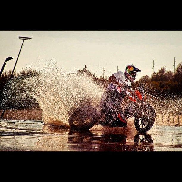 Riding on water!    Join RacerTimes.com  - #SexOnWheels #RacerTimes #Bike #Drift  #TheRacer