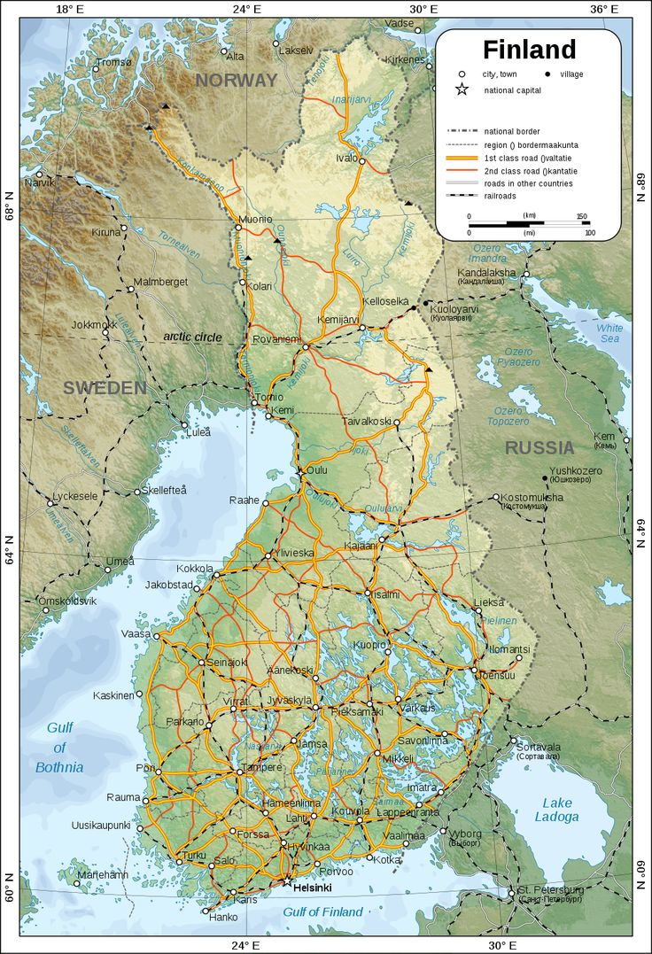 map of finland in - photo #33